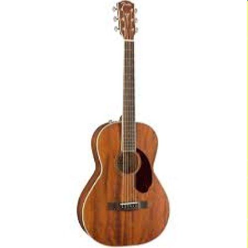 Fender Paramount Pm-2 Mahogany Parlor Acoustic Guitar W/ Hard Case (0970320322)