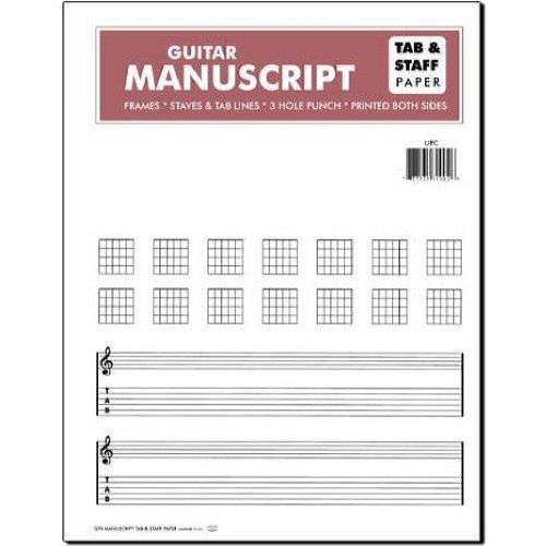 Guitar Manuscript Tab & Staff