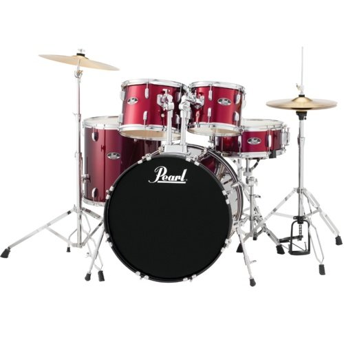 PEARL ROADSHOW 5- PIECE DRUM SET  WINE RED (RS525SCC91)