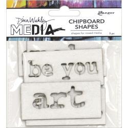 Dina Wakley Media Chipboard Shapes-Words