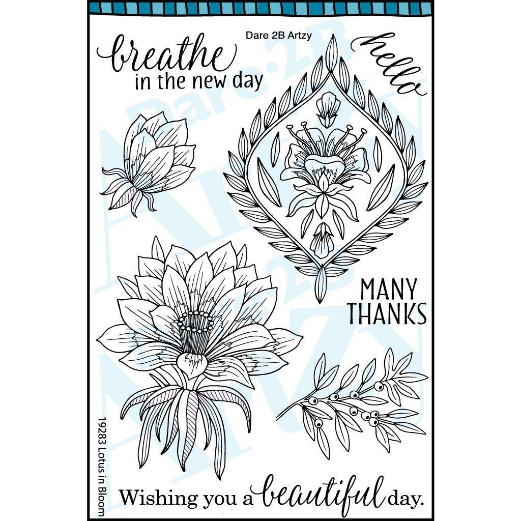 Dare 2B Artsy Lotus Blooming Die/Stamp Group
