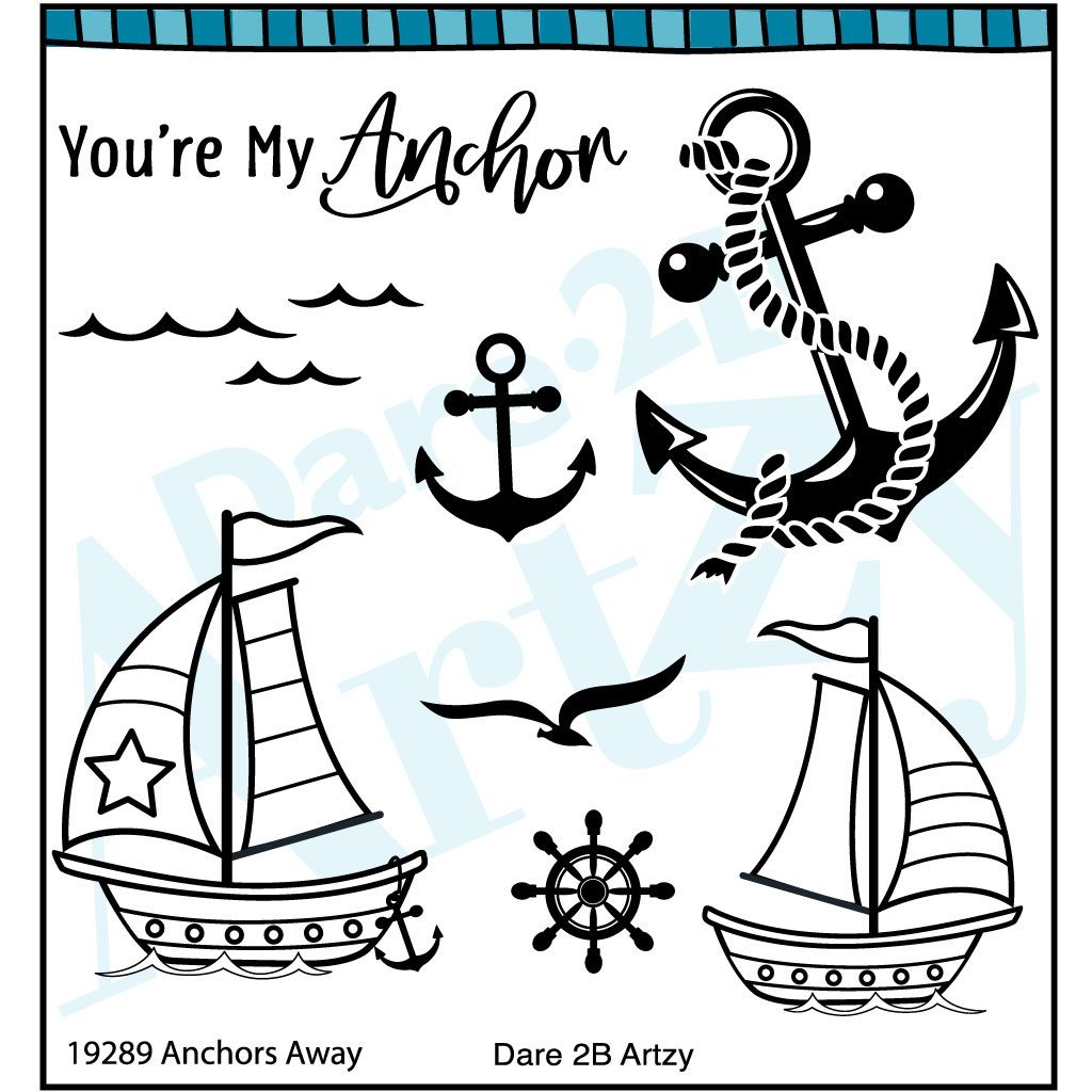 Dare 2B Artsy Anchors Away Die/Stamp Group