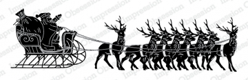 Santa with Sleigh Stamp