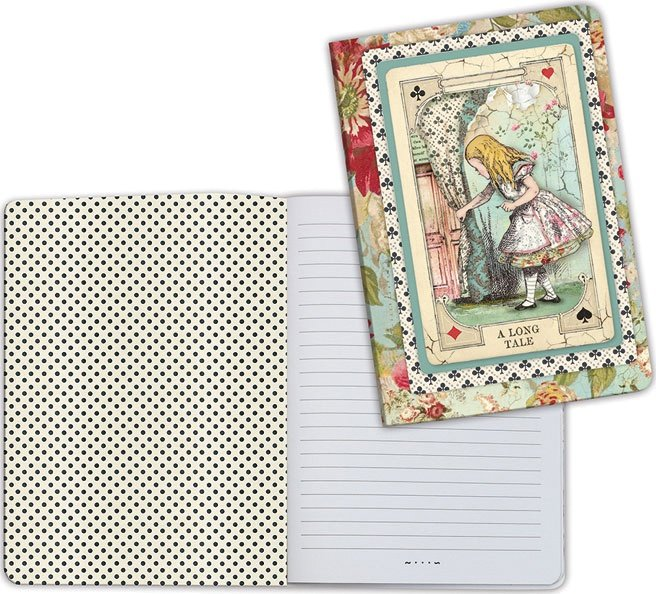Stamperia Lined Notebook A5-Alice Curious