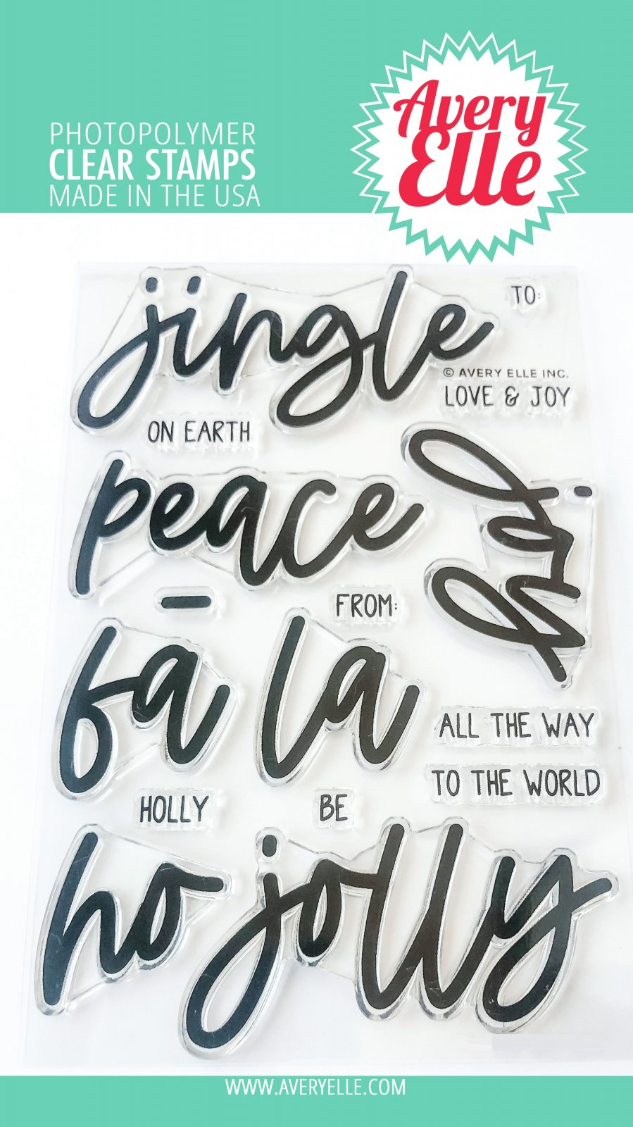 Avery Elle Clear Stamp Set 4X6-Jingle