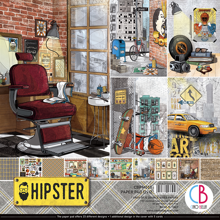 Ciao Bella Paper Pack 12X12 Hipster, 12 Designs/1 Eac...