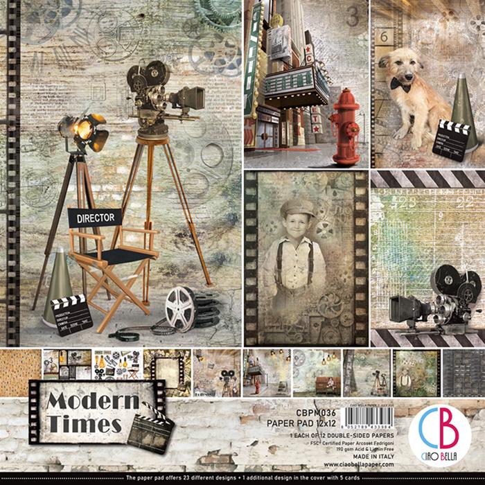 Ciao Bella Paper Pack 12X12 Modern Times, 12 Designs/...