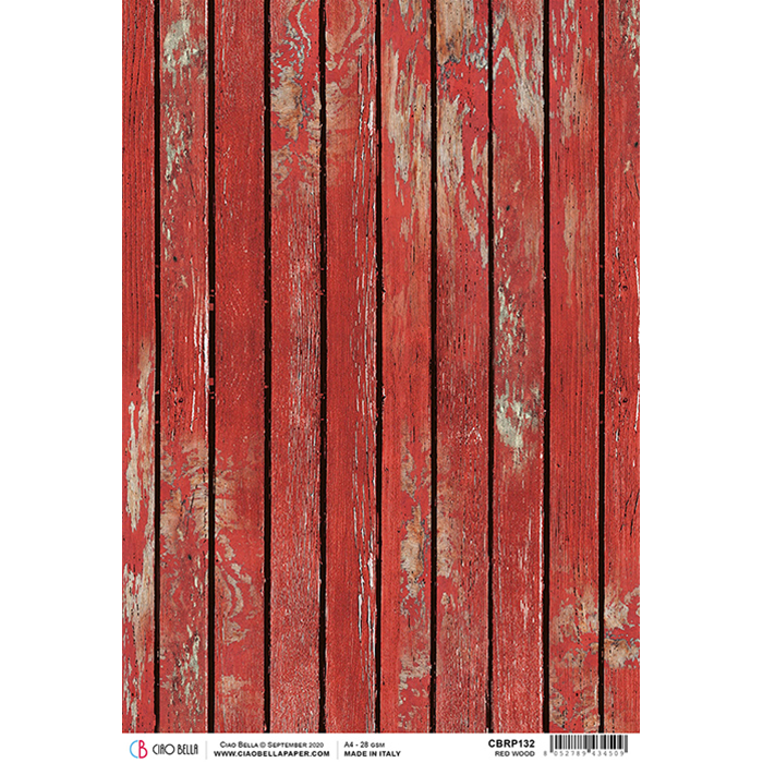 Ciao Bella Rice Paper Sheet Red Wood, Northern Lights