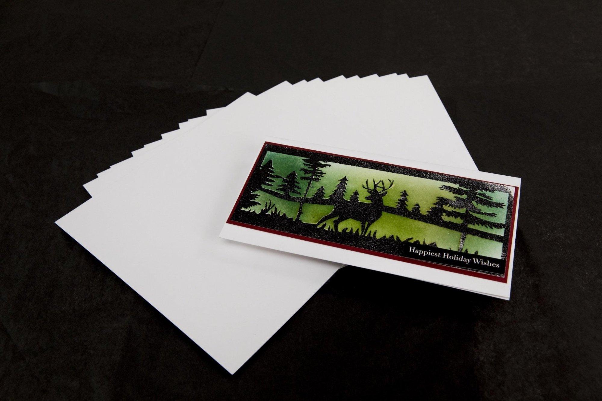 Slim Line Card Bases - Ultra White 110lb