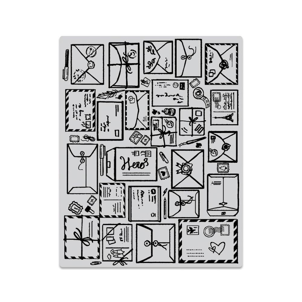 Mail Jumble & Peek-A-Boo Stamp & Die Group