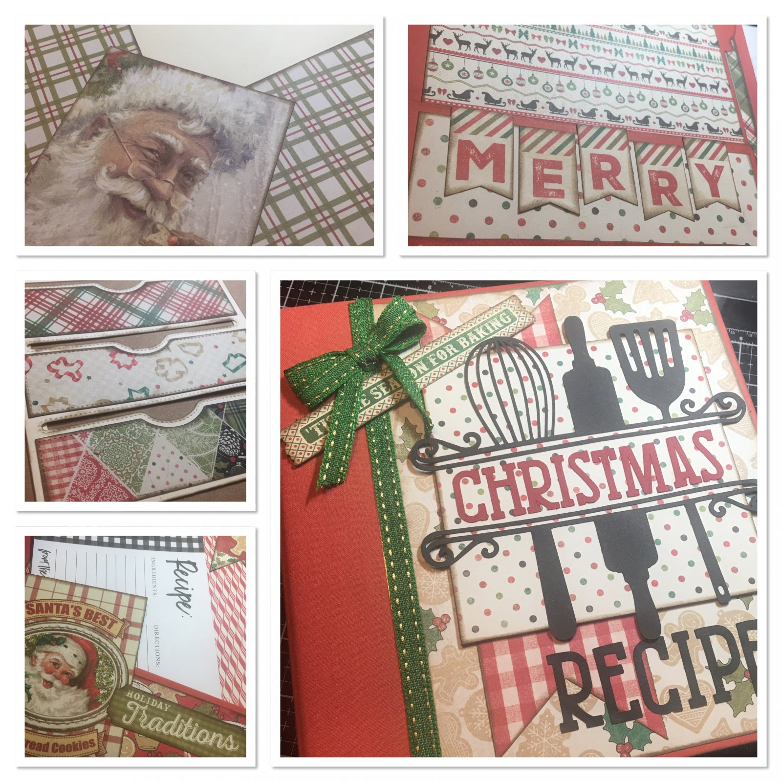 Christmas Cookbook Album Kit