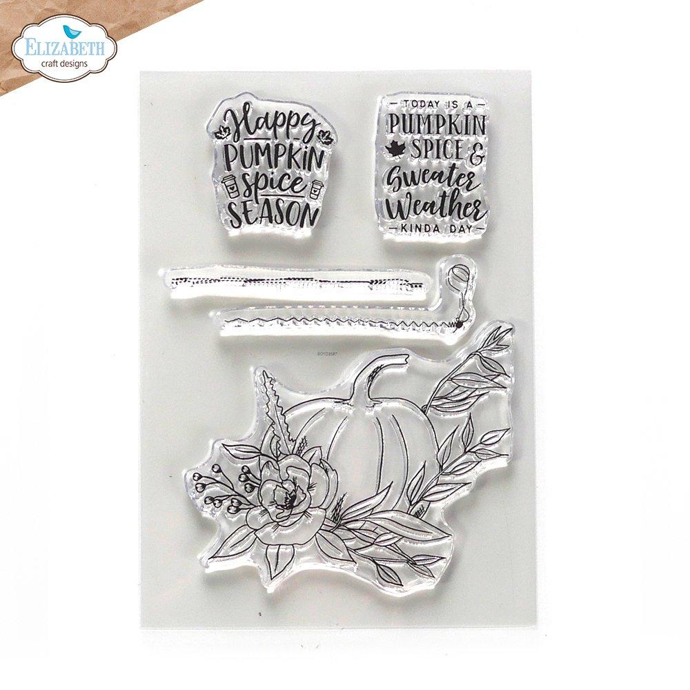 Elizabeth Craft Art Journal Specials - Pumpkin Spice Season Stamp