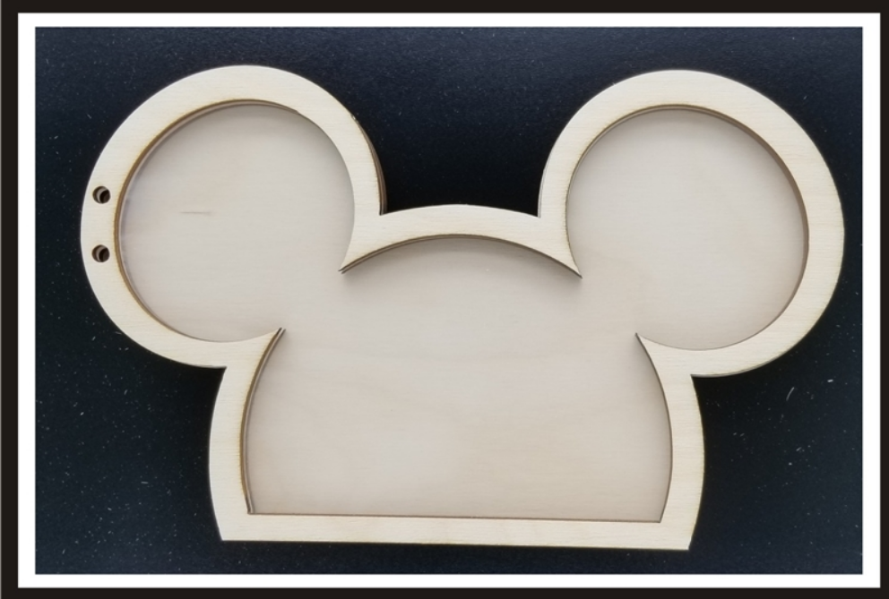 Clear Scraps Wood Shaker Album - Mouse