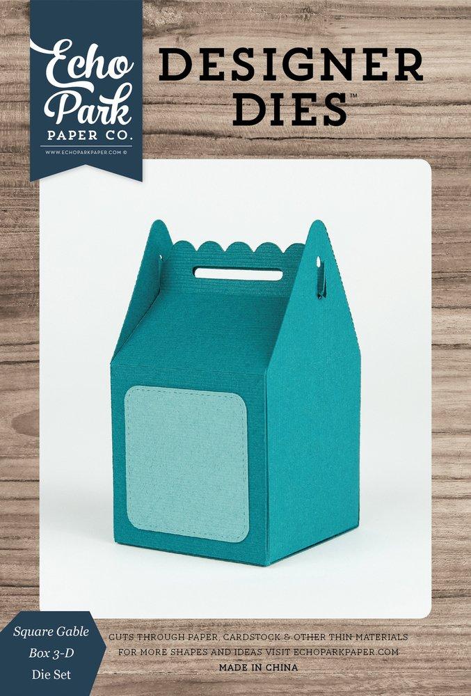 Square Gable Box 3-D Die Set