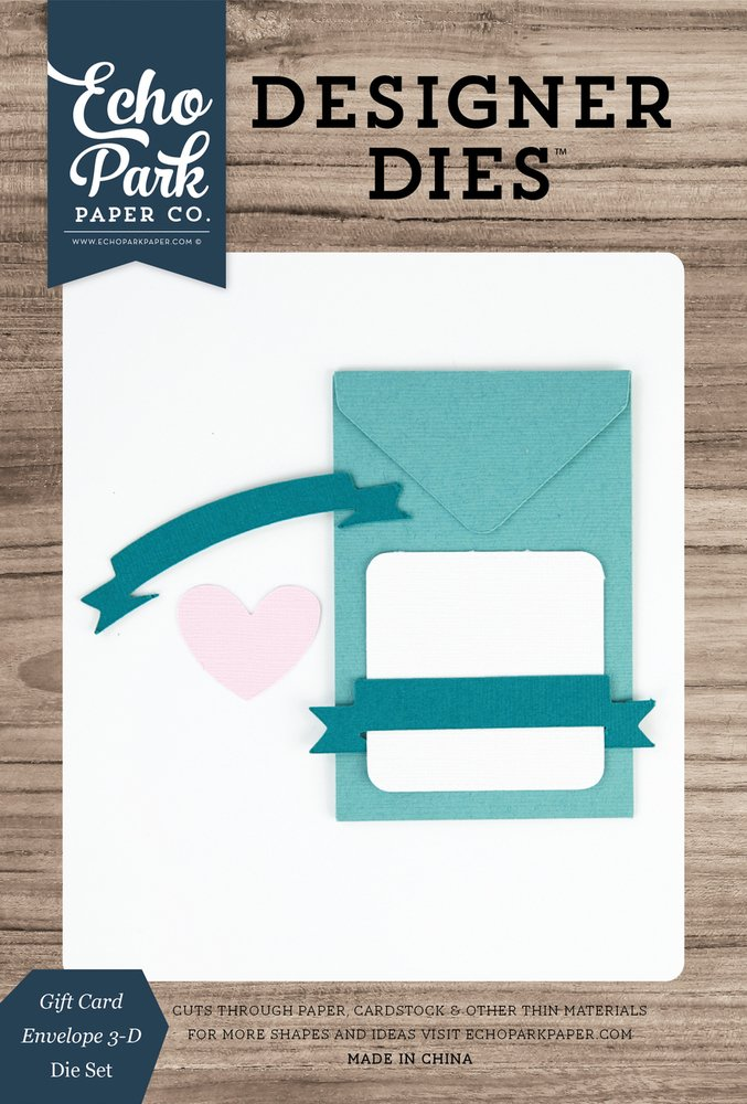 Gift Card Envelope 3-D Die Set