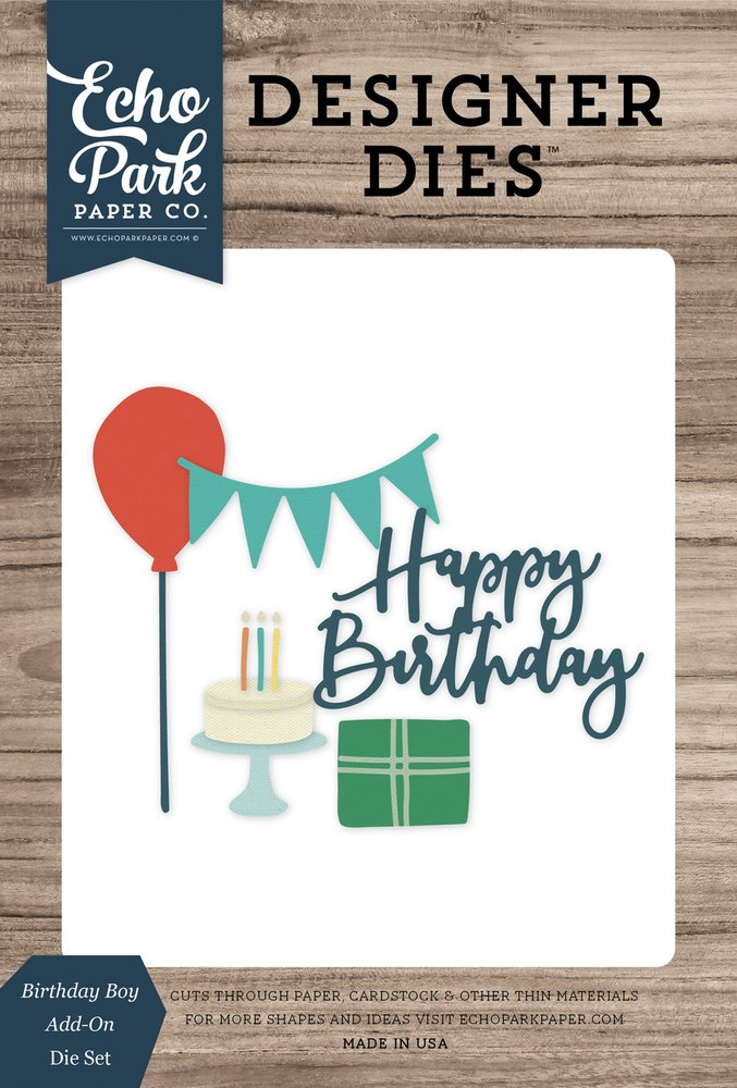 Birthday Boy Add-On Die Set