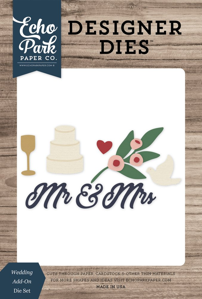 Wedding add-on die Set