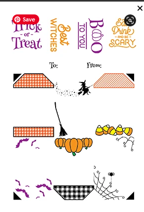 LDRS Creative Halloween Gift Tag Stack Stamps