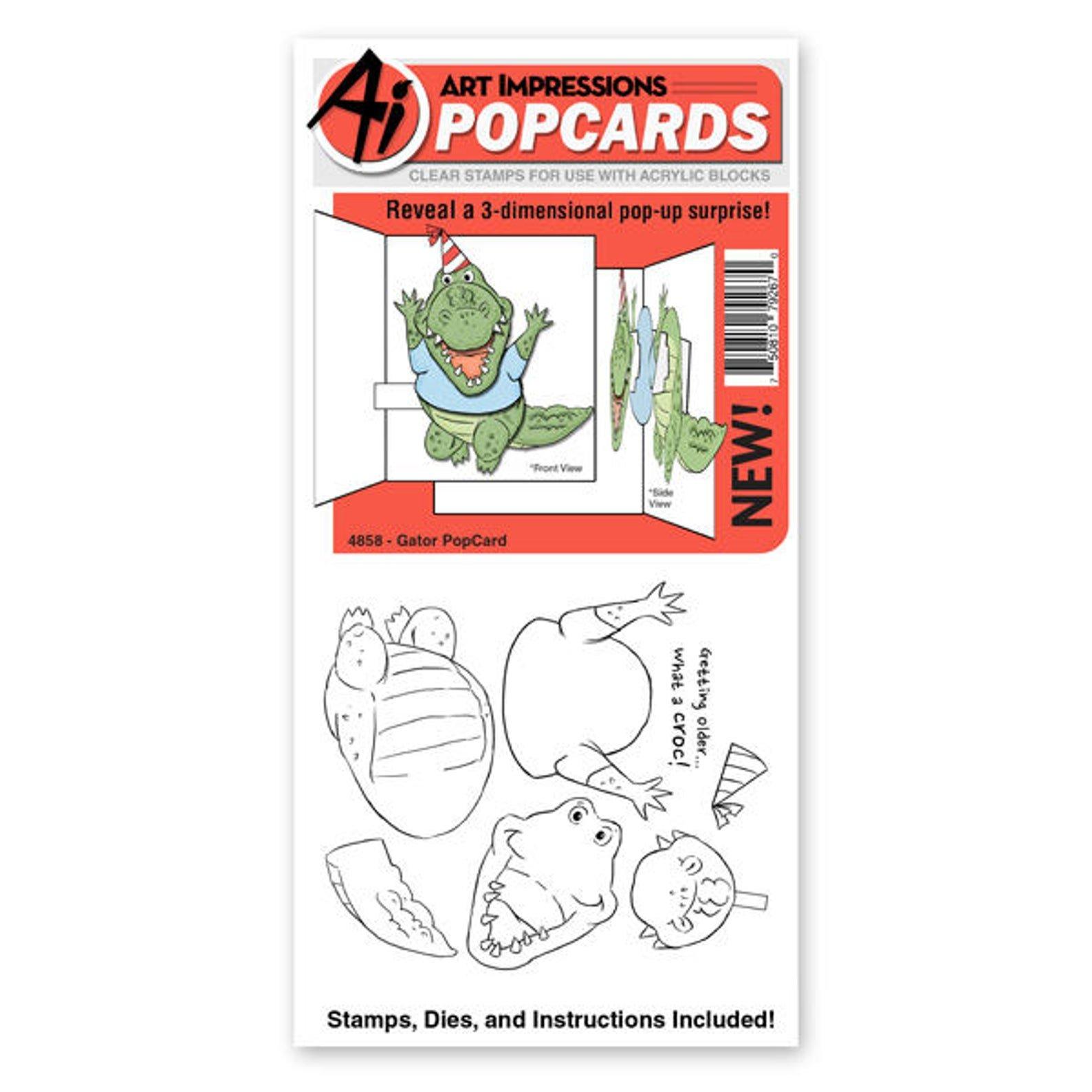 Gator Popcard Die/Stamp Set with Popcard Template Group
