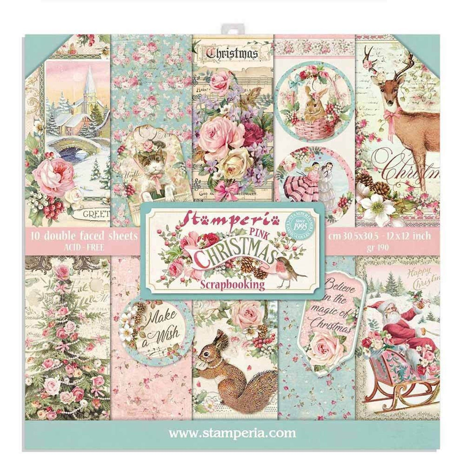 Stamperia's Pink Christmas 12x12 Group