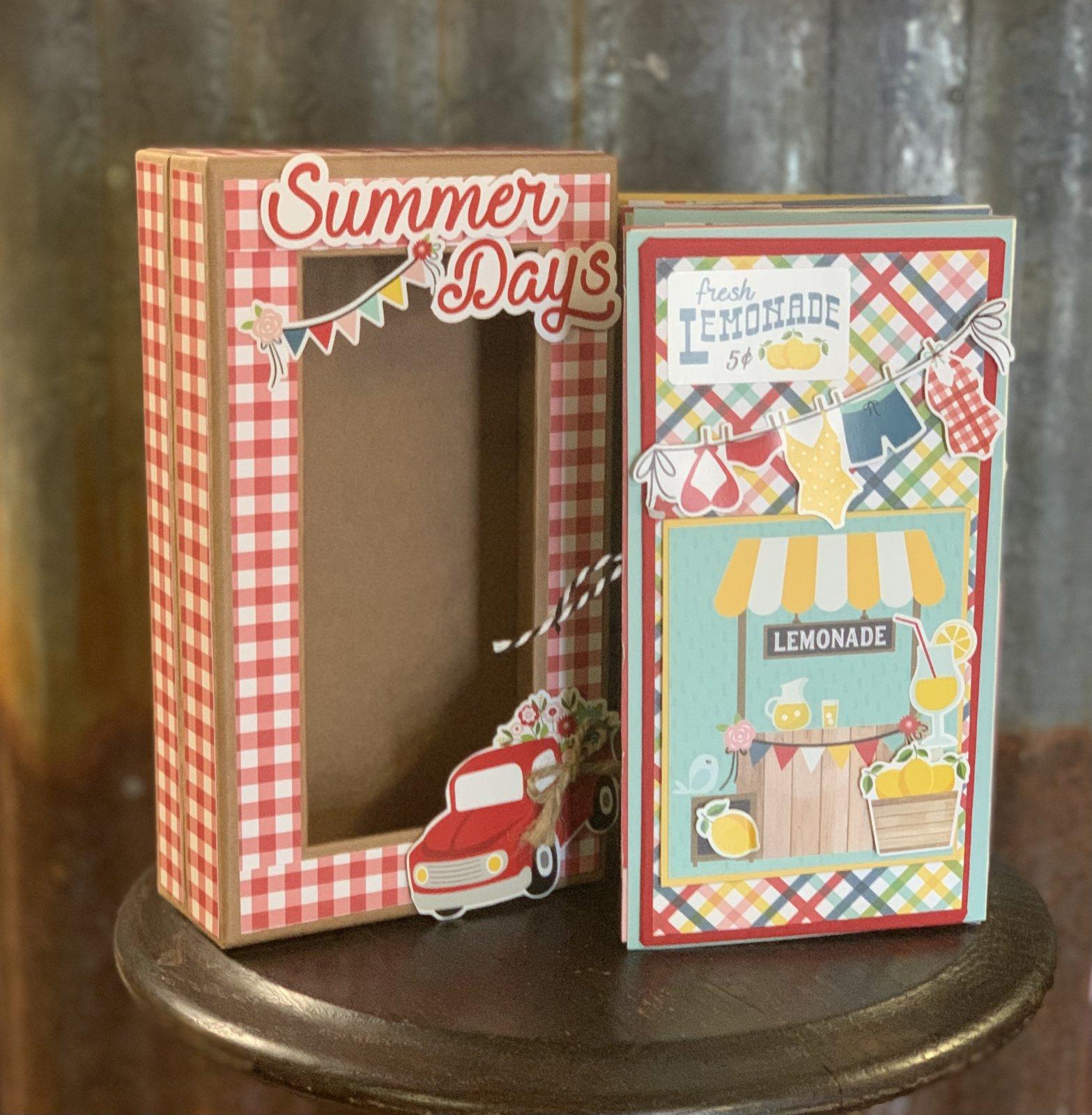 Summertime Folio with Shadow Box