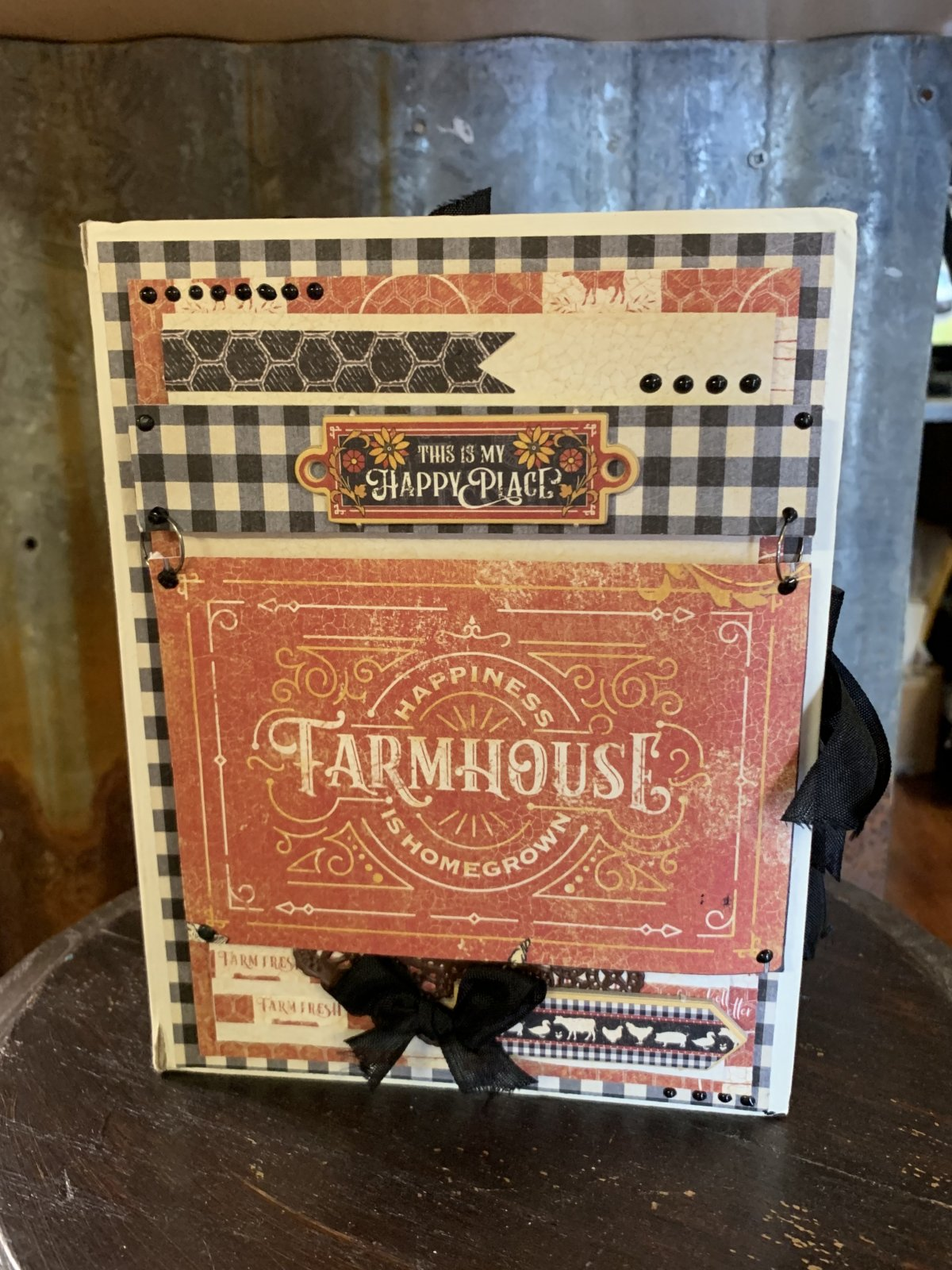 Graphic 45 Farmhouse album by Cynthia