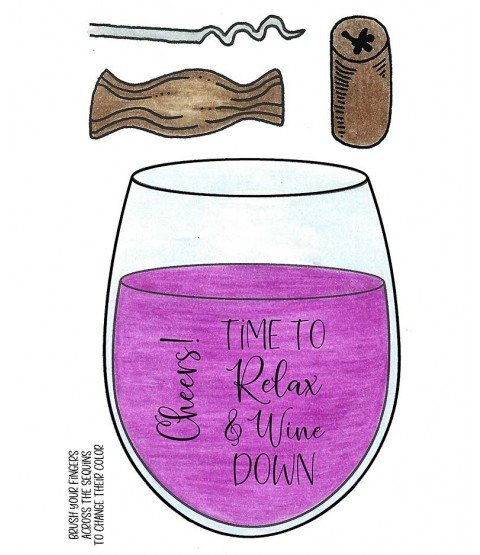 Relax and Wine Down Stamp & Die Group