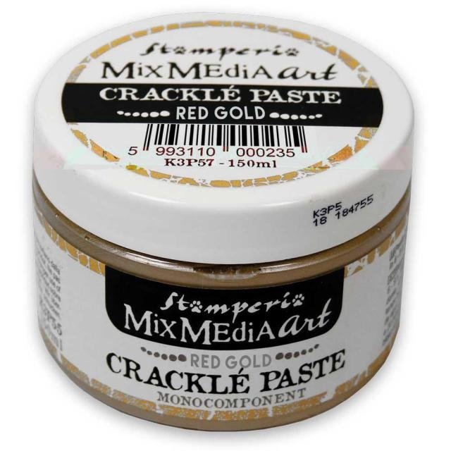 Crackle Paste Red Gold