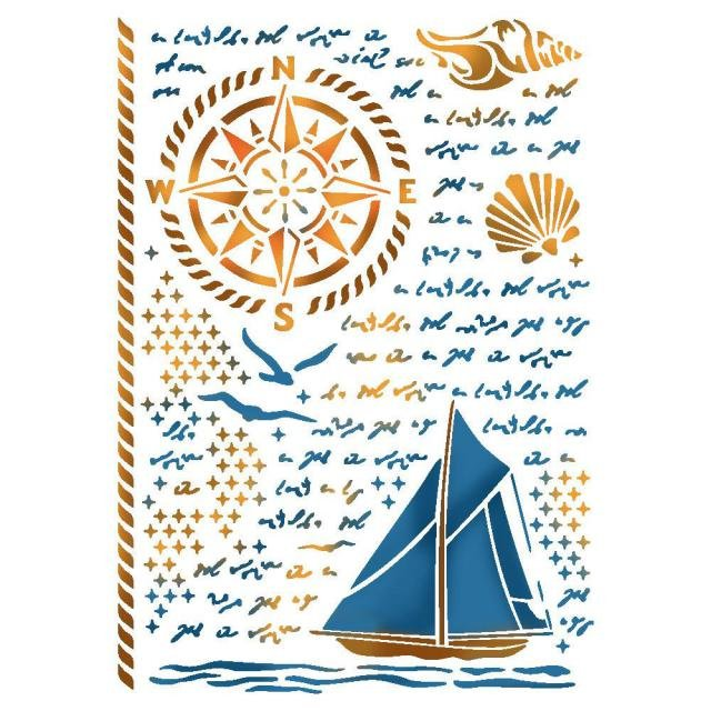 Sea Land Stencil