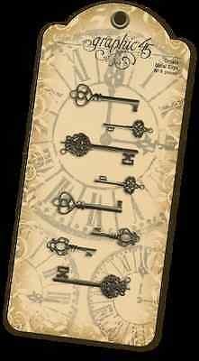 Graphic 45 Staples Ornate Metal Keys Antique Brass