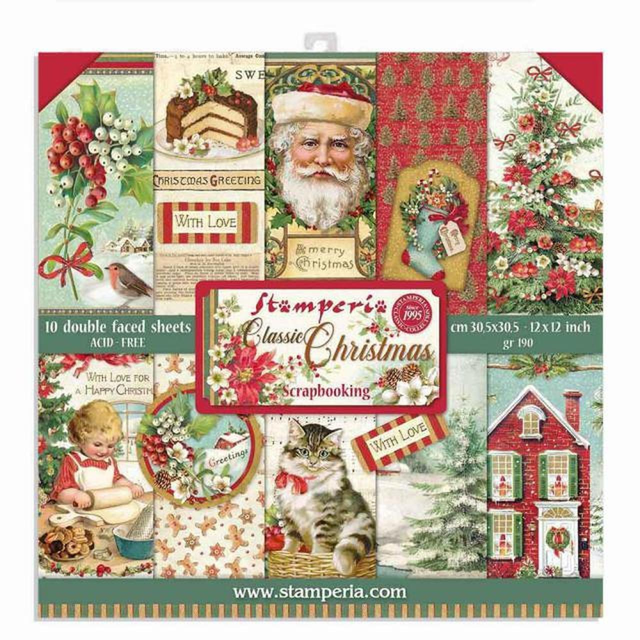 Stamperia's Classic Christmas 12x12 Group