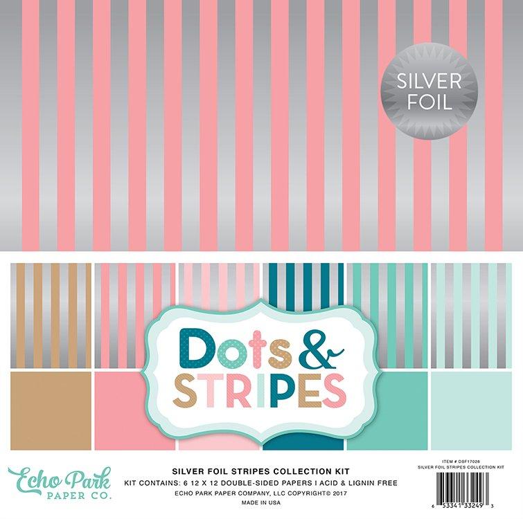 Silver Foil Stripes Collection Kit
