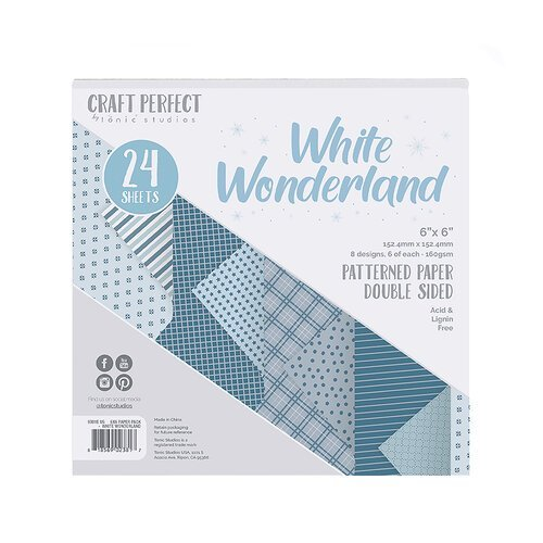 Craft Perfect - White Wonderland Patterned 6x6