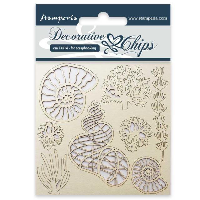 Stamperia Decorative Chips - Shells