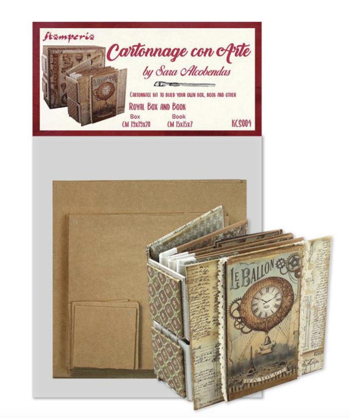 Cartonnage Kit Royal Box and Book