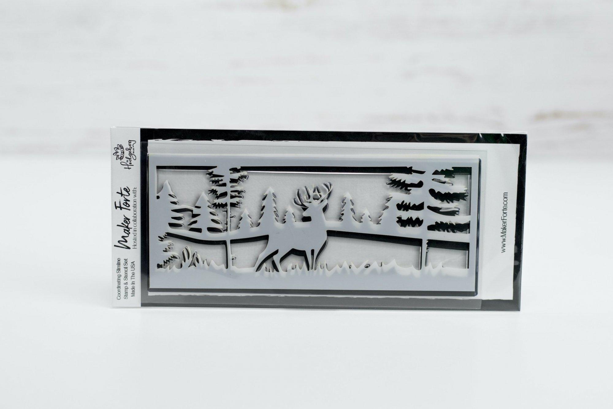 Hedgehog Hollow - Deer to Me Scene - Stamp/Stencil Set