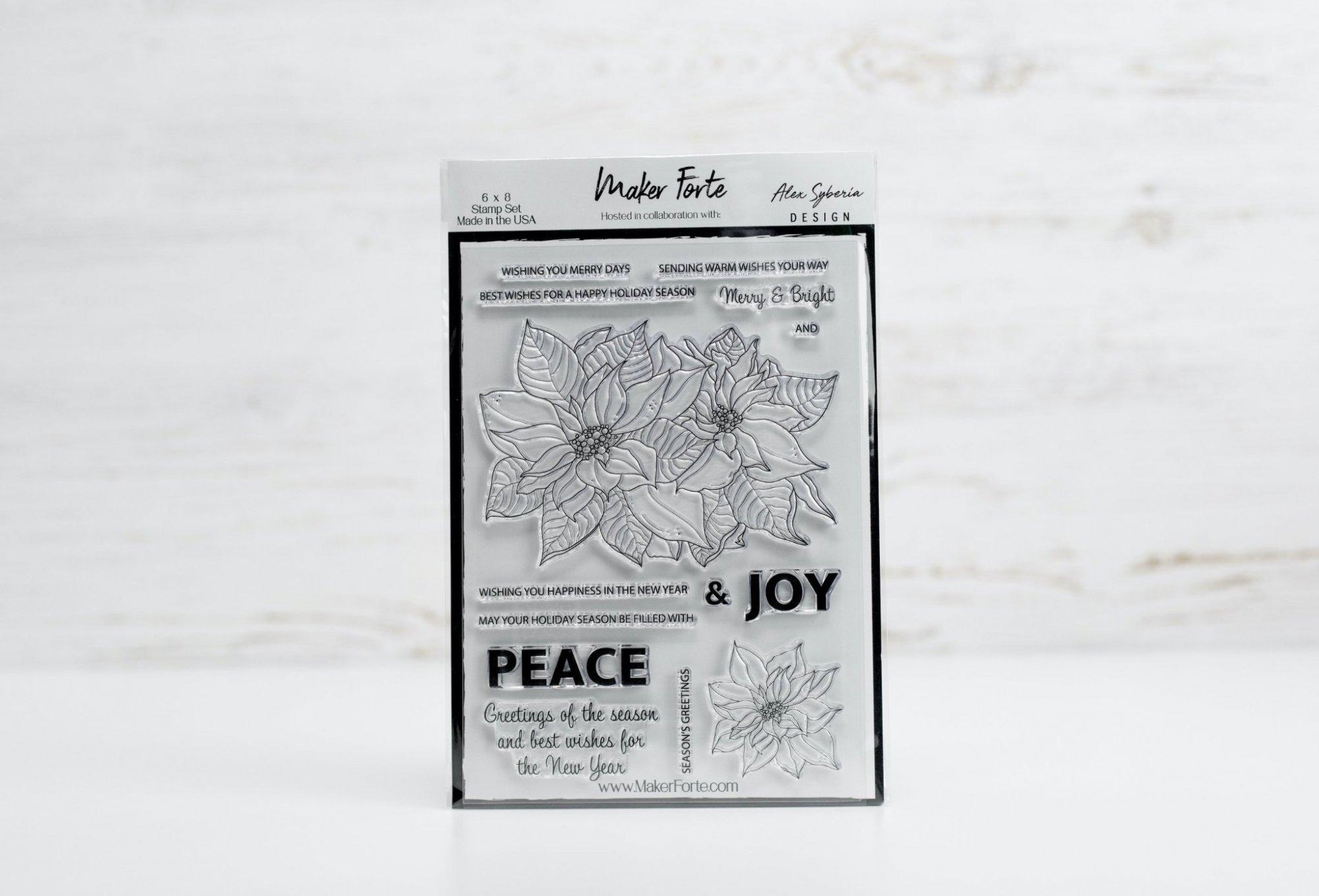 Alex Syberia  - Poinsettia - Stamp Set