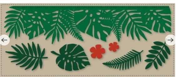 Slim Tropical Leaf Border Die