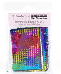 Sequin Fabric Rainbow-Silver