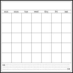 SRM 8X8 Calendar