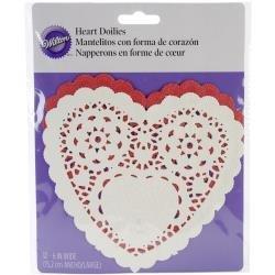 Heart Doilies 6 in