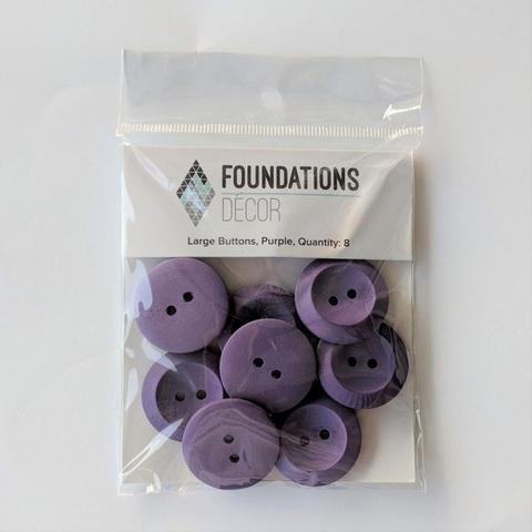 Large Button - Purple