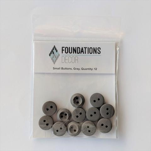 Small Button - Grey