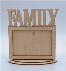 Family Wood Frame  w/Stand