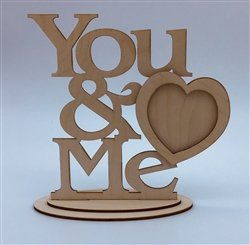 You & Me Wood Frame w/Stand
