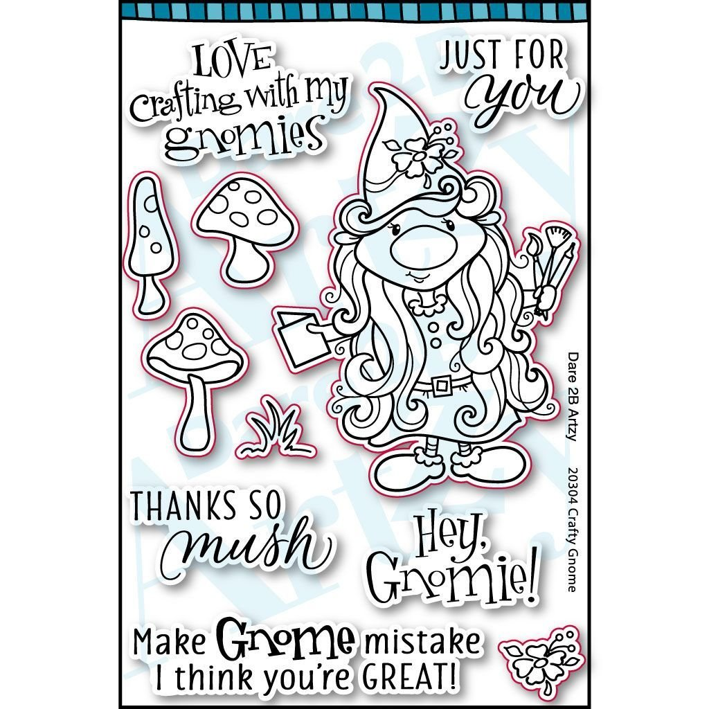 D2BA - Crafty Gnome Stamp
