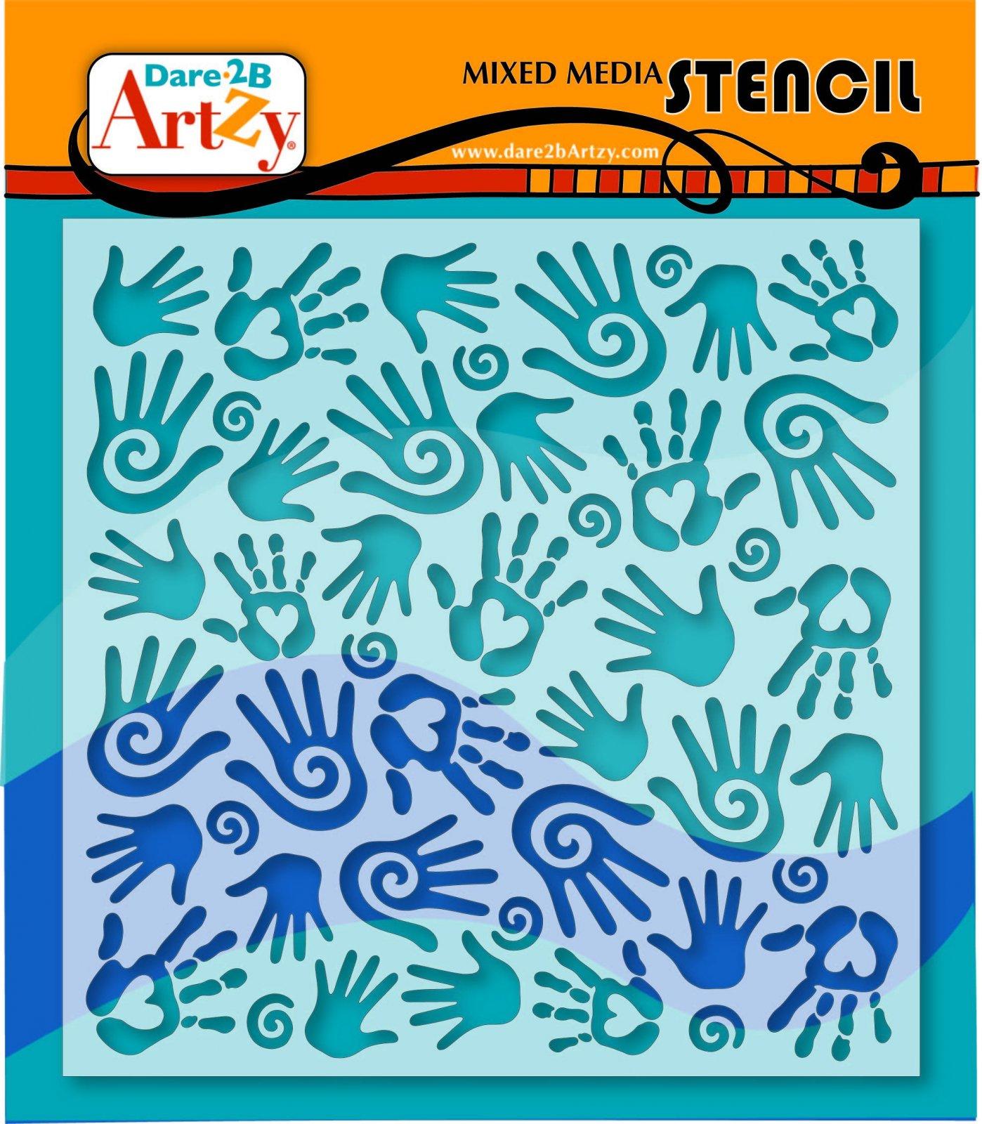 D2BA - Hand Stencil