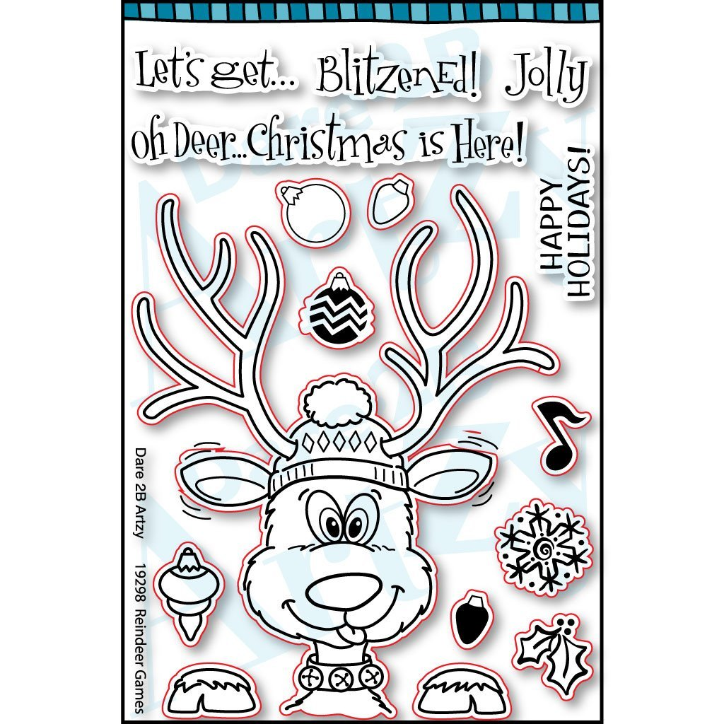 D2BA - Reindeer Games Stamp