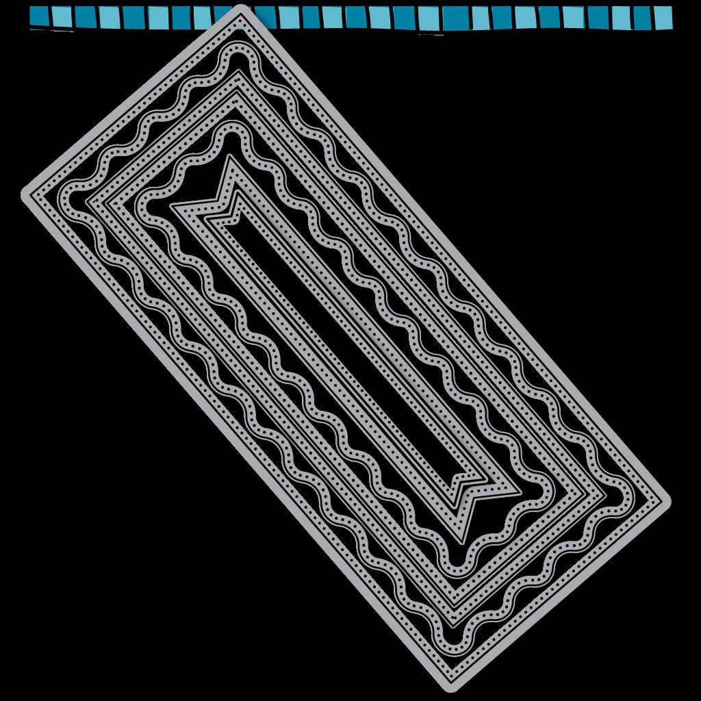 D2BA - Wavy Slimline Framelit Die - D122