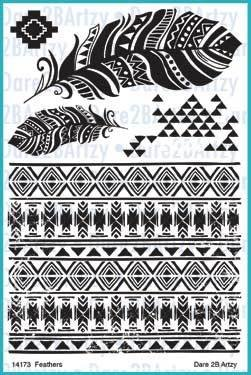Dare 2B Artzy - Feathers Stamps